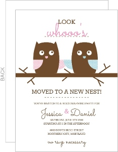 Whimsical Owls Housewarming Invitation - 3655