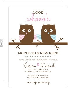 Whimsical Owls  Housewarming Invitation