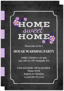 Chalk Sweet Home Housewarming Invitation