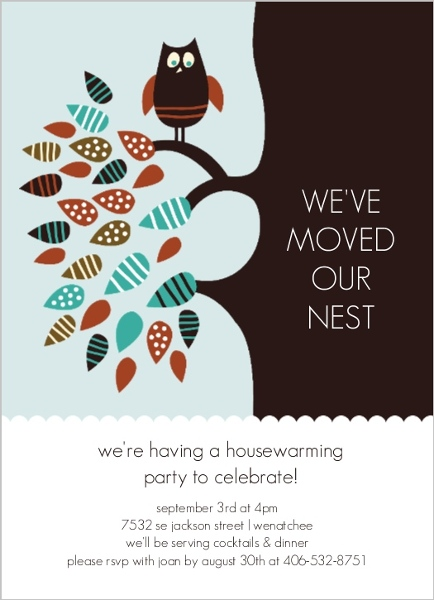 Owl Housewarming Party Invite – Housewarming Party Invitations