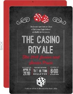 Rustic Las Vegas Chalkboard Prom Invitation