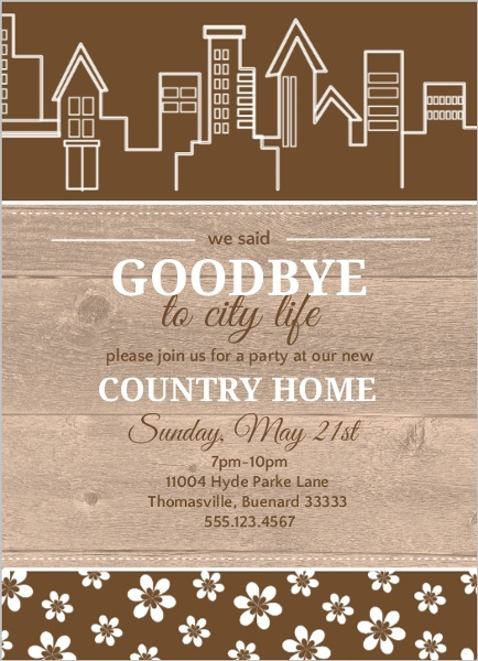 country housewarming party invite | housewarming invitations, Party invitations