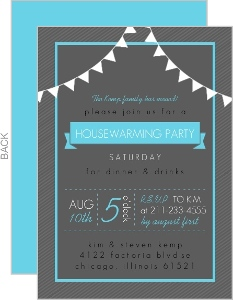 Charcoal Modern Set Housewarming Party Invitation