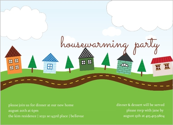 Our Town Housewarming Party Invitation Housewarming Invitations