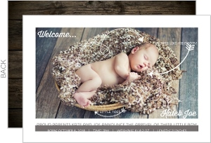 Rustic Little Arrows Birth Announcement