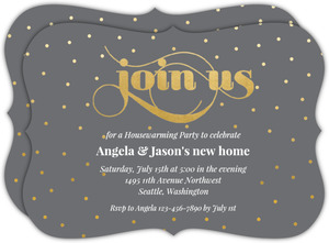 Red Paint  Housewarming Party Invitation