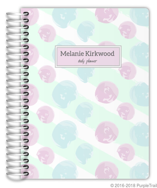 Soft pastel paint daubs planner weekly planners for Paint planner