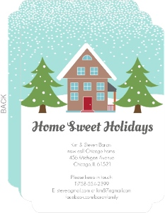 Wintery Home Holiday Moving Announcement - 3801