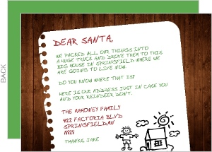 Letter To Santa Holiday Moving Announcement