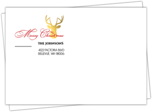 Gold Foil Deer Envelope