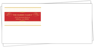 Formal Red Gold Custom Envelope
