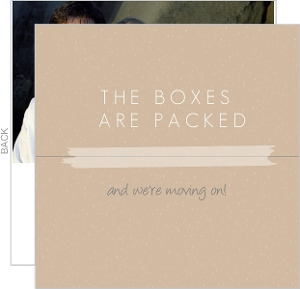 Brown Box Photo Moving Announcement