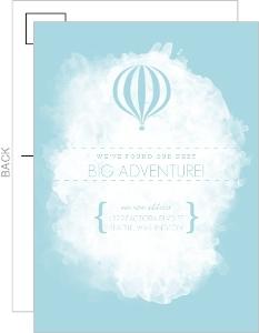 Hot Air Balloon Postcard Moving Announcement