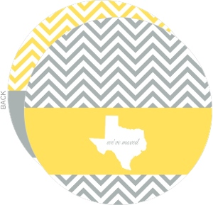 Gray And Yellow Chevron State Moving Announcement