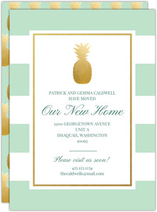 Pineapple Stripes Moving Announcement