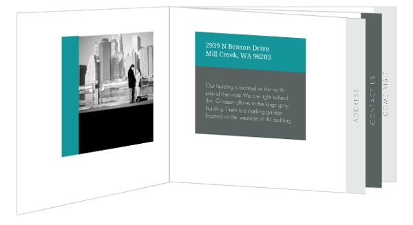 Gray and Teal Business Moving Booklet