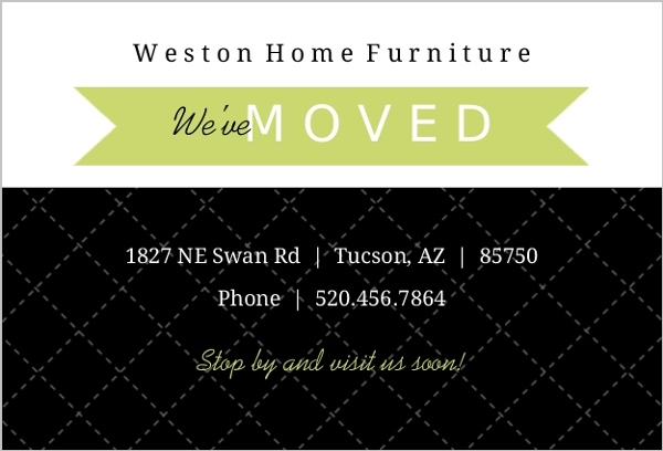 Black and Green Banner Business Moving Announcement