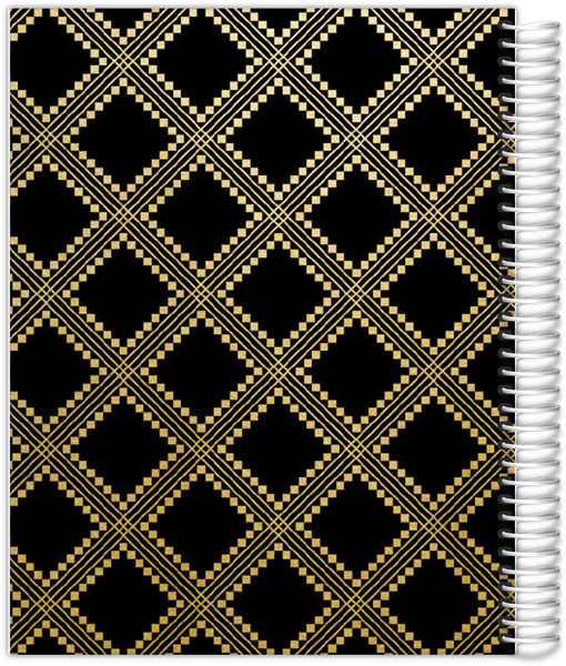 Faux Gold Foil Aztec Pattern Custom Planner