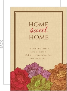Frame Home Sweet Home Moving Announcement