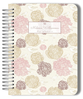 Vintage Blossoms Day Planner