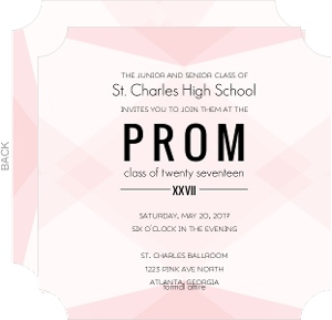 Modern Blush Pattern Prom Invitation