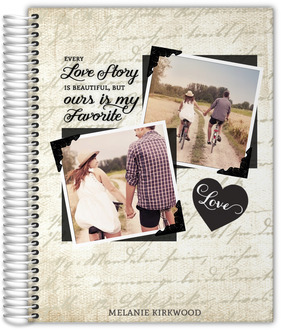 Vintage Love Story Custom Journal