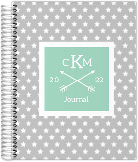 Star Spangled Monogram Custom Journal