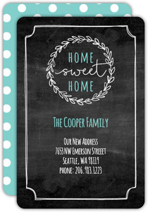 Chalkboard Wreath Moving Announcement