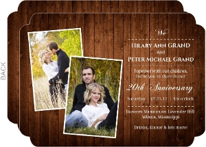 Wooden Picture Perfect Love 20th Wedding Anniversary