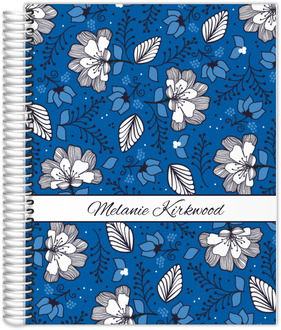 Blue & White Floral Pattern Planner