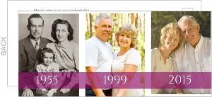 Tri-Photo Magenta 60Th Anniversary Invitation