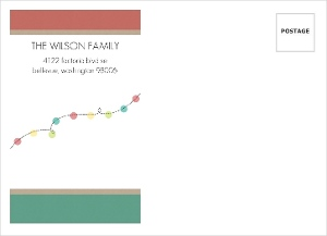 Colorful String Of Lights Custom Envelope