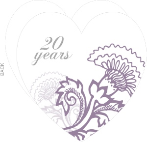 Soft Purple Floral 20Th Anniversary Invitation