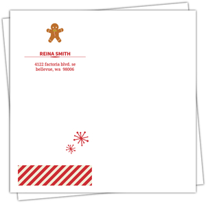 Red And Cream Stripes Envelope