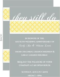 Gray And Yellow 60Th Anniversary Invitation