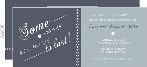 Two Tone Gray Diamond Anniversary Invitation