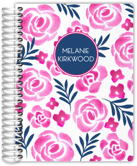 Pink Watercolor Floral Journal