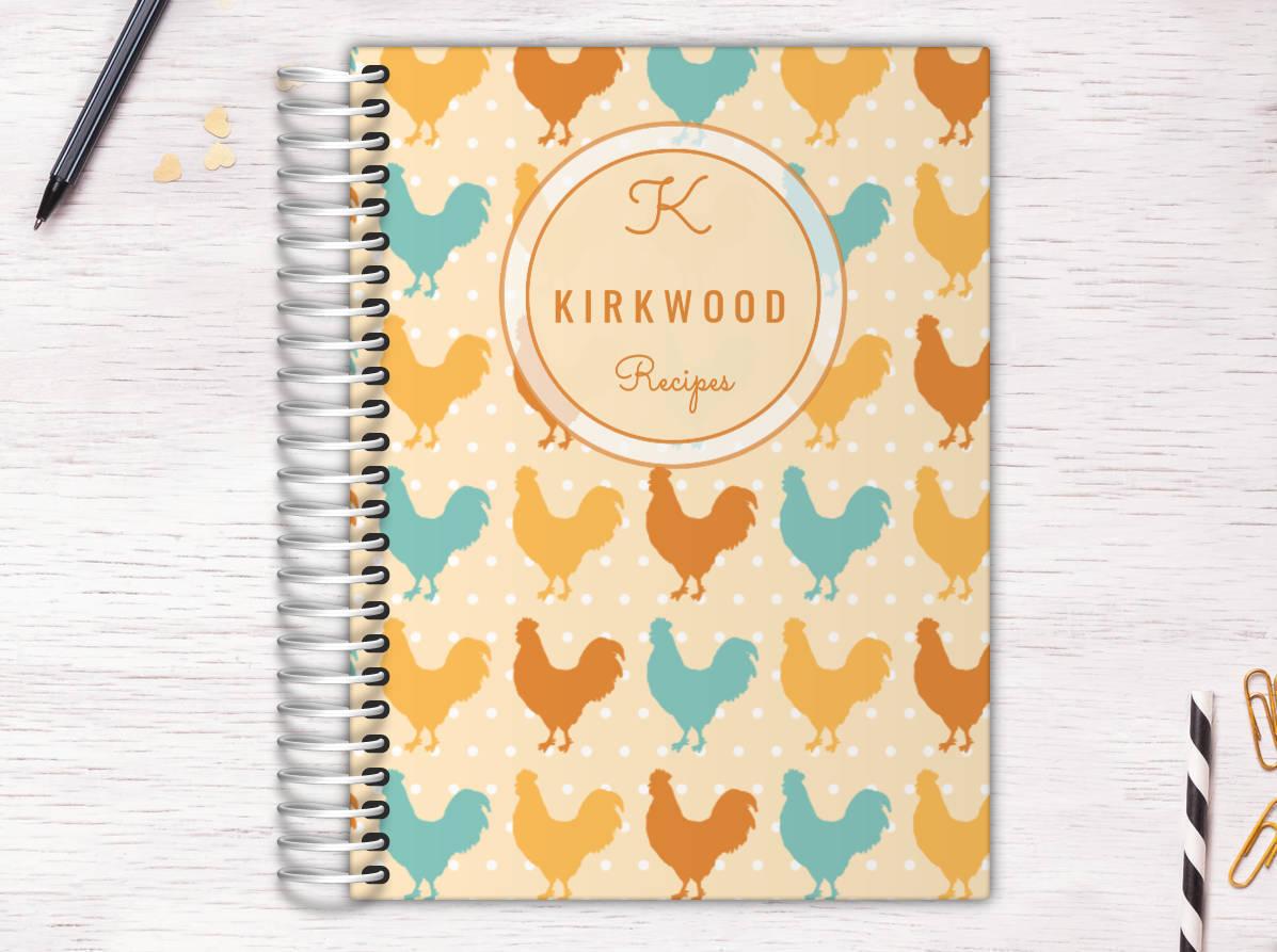 Rustic Chicken Custom Day Journal