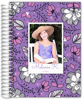 Purple & Pink Floral Photo Journal