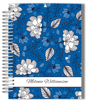 Blue & White Floral Pattern Journal