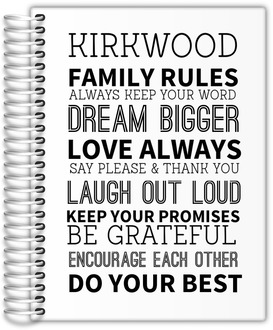 Family Rules Journal