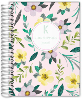 Lovely Watercolor Floral Custom Journal