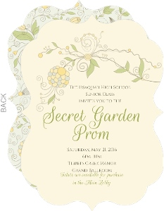 Beautiful Floral Pattern Prom Invitation