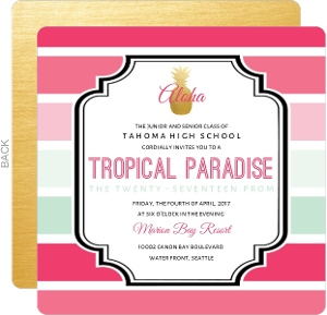 Tropical Paradise Prom Invitation