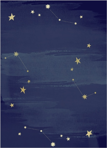 Watercolor Constellation Prom Invitation Prom Invitations