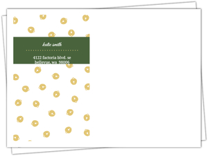 Fancy Bells On Floral Custom Envelope