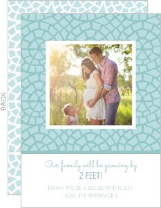 Baby Blue Mosaic Pregnancy Announcement