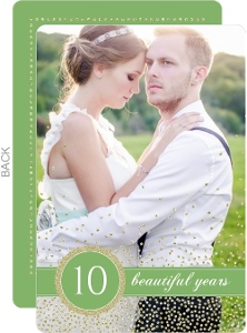 Sweet And Sparkly 10Th Wedding Anniversary Invite
