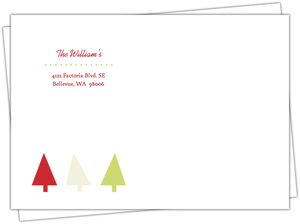 Bold Brackets Festive Tree Custom Envelope