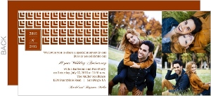 Copper Geometric Pattern 10th Anniversary Invitation
